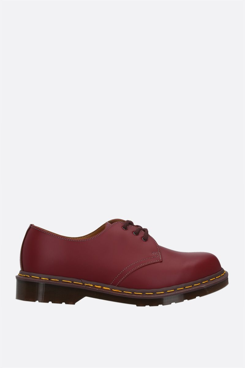 DR. MARTENS: 1461 smooth leather derby shoes Color Red_1