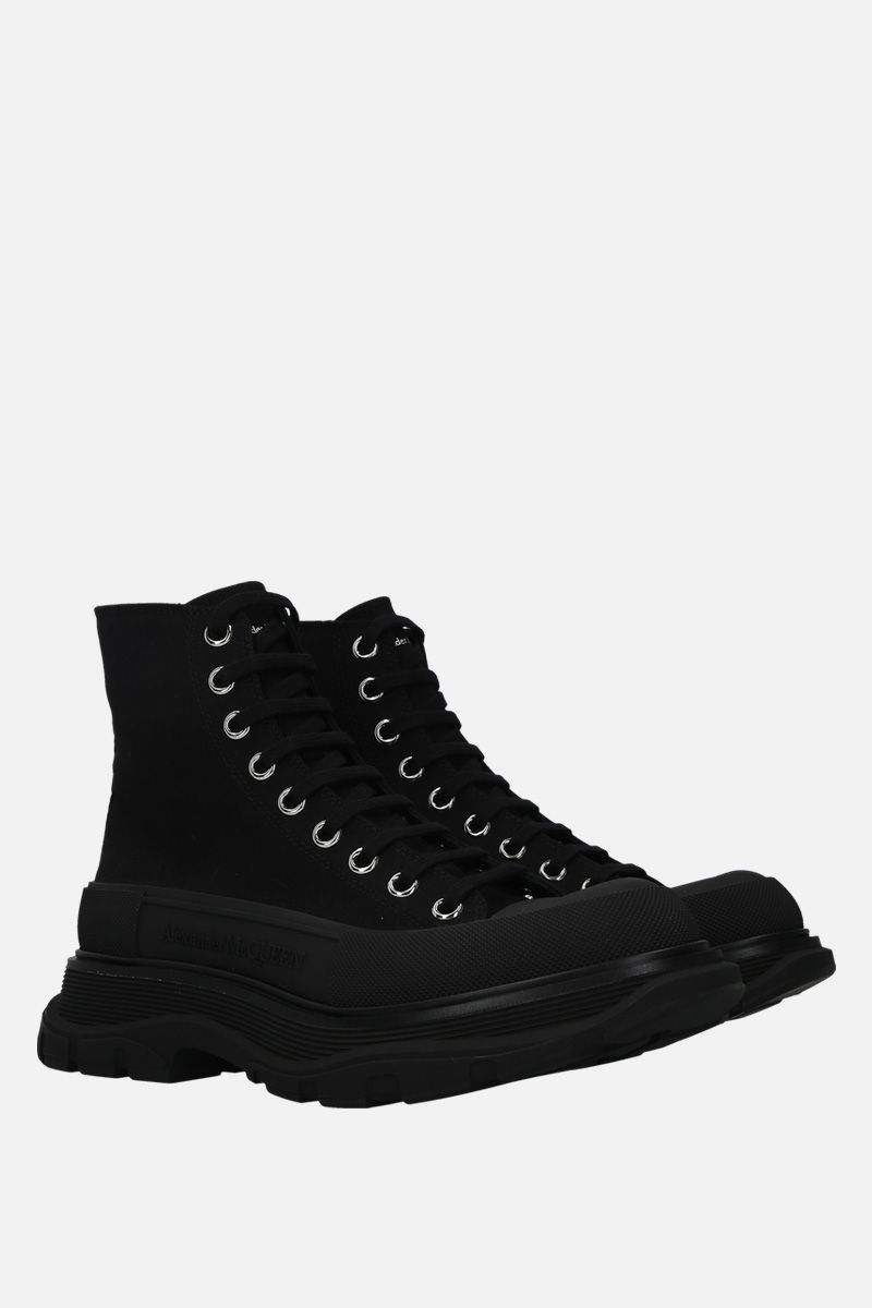 ALEXANDER McQUEEN: anfibio Tread in canvas Colore Nero_2