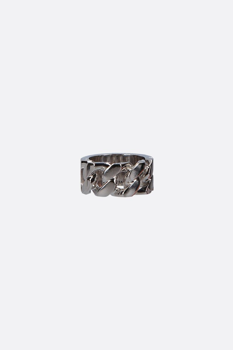 ALEXANDER McQUEEN: Identity chain metal ring Color Multicolor_1