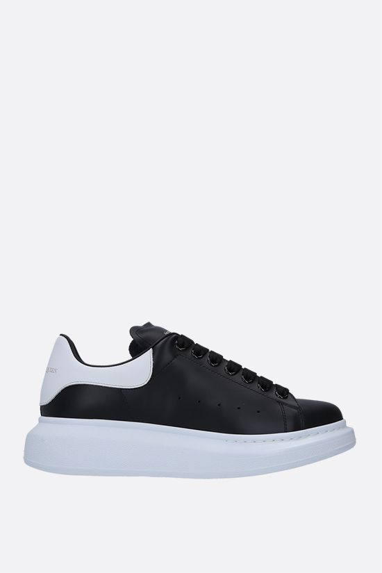 ALEXANDER McQUEEN: Oversize smooth leather sneakers Color White_1