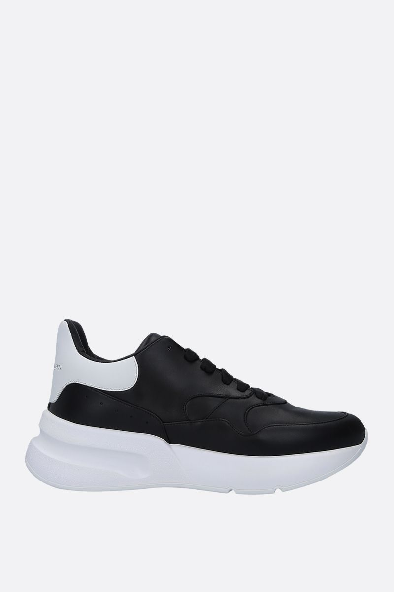 ALEXANDER McQUEEN: Runner Oversize sneakers in smooth leather Color Black_1