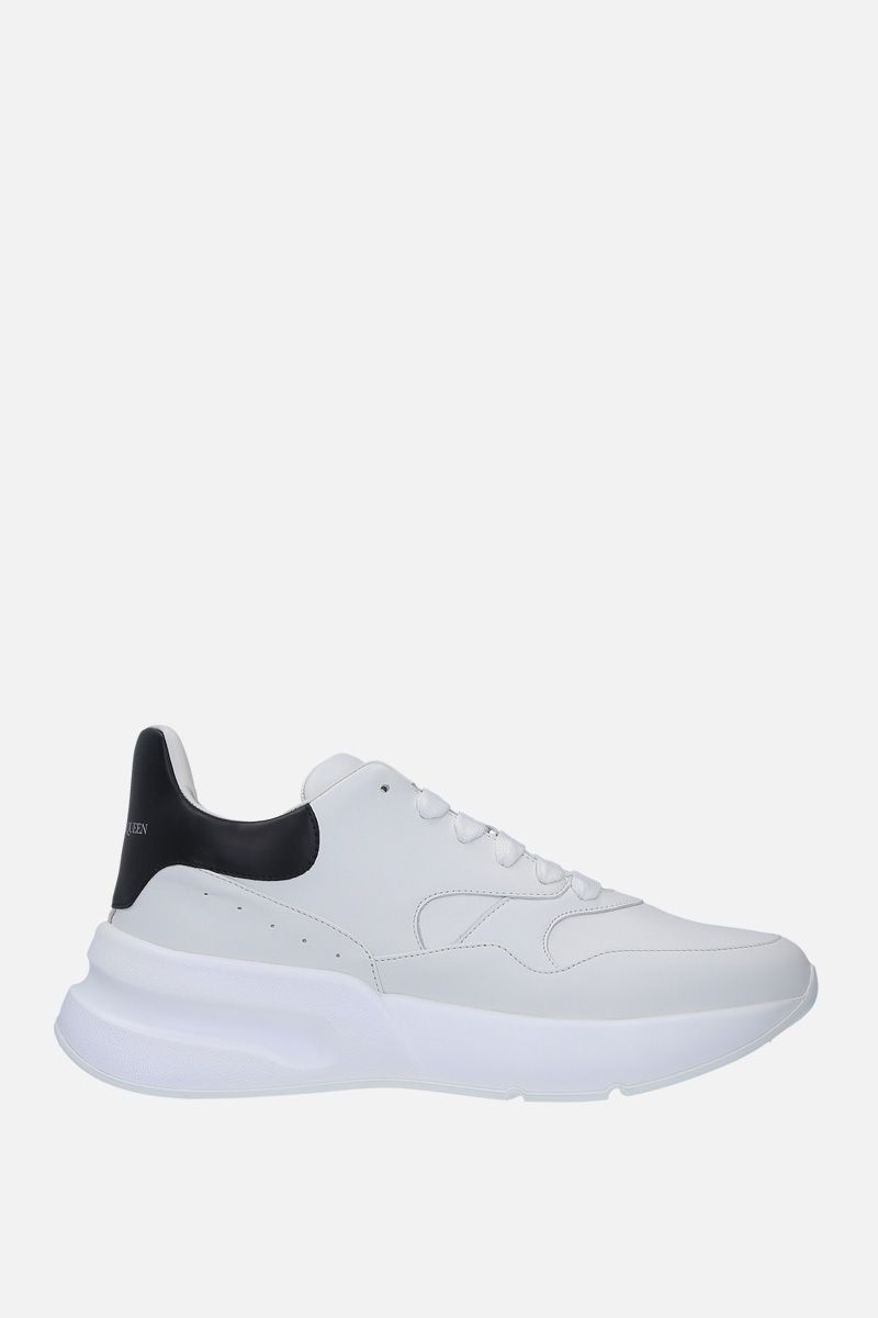 ALEXANDER McQUEEN: Runner Oversize sneakers in smooth leather Color Grey_1