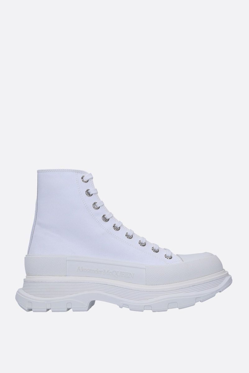 ALEXANDER McQUEEN: canvas high-top sneakers Color White_1