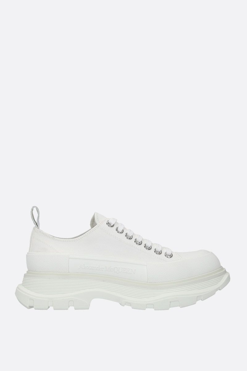 ALEXANDER McQUEEN: canvas low-top sneakers Color White_1