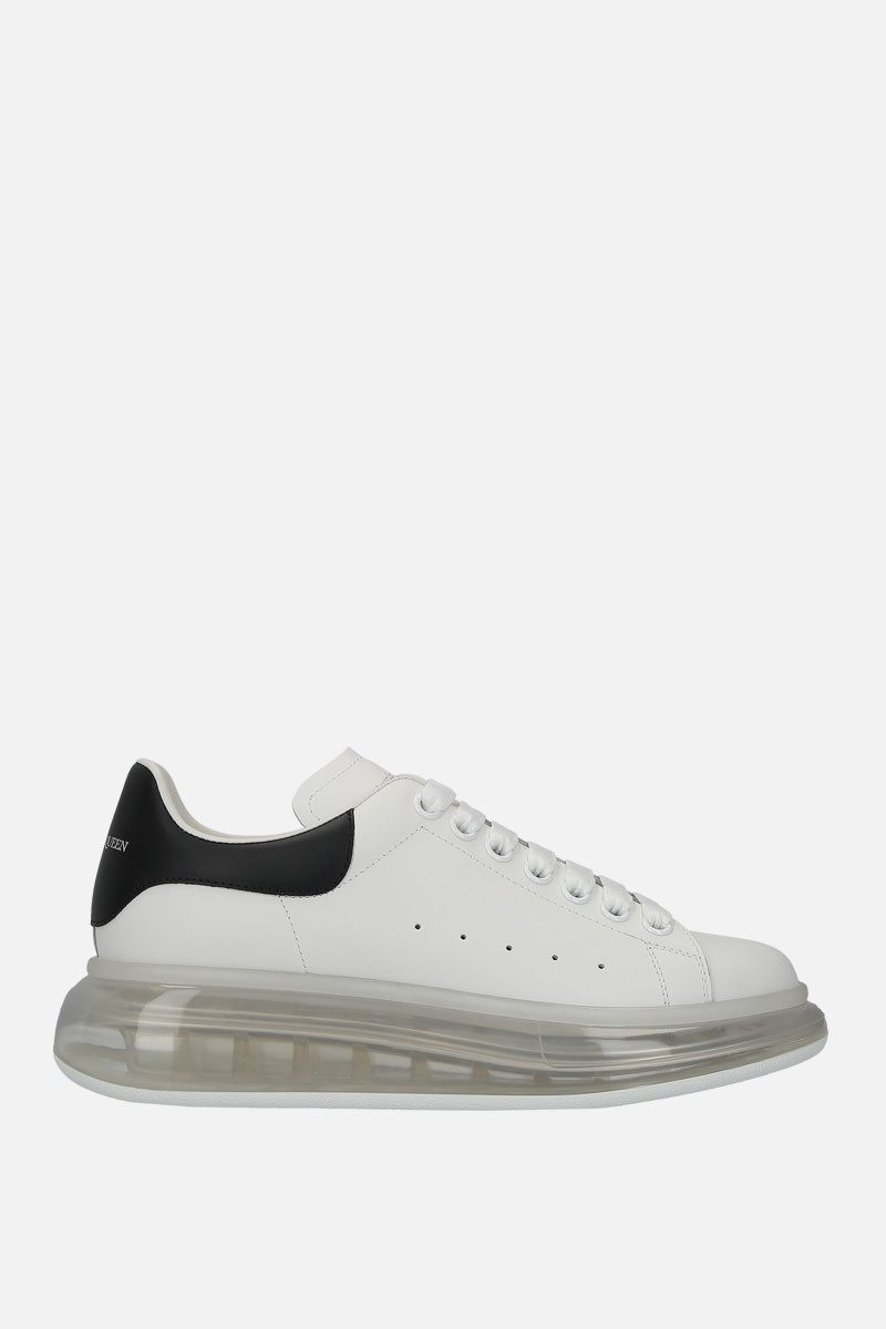 ALEXANDER McQUEEN: Oversize smooth leather sneakers Color Black_1