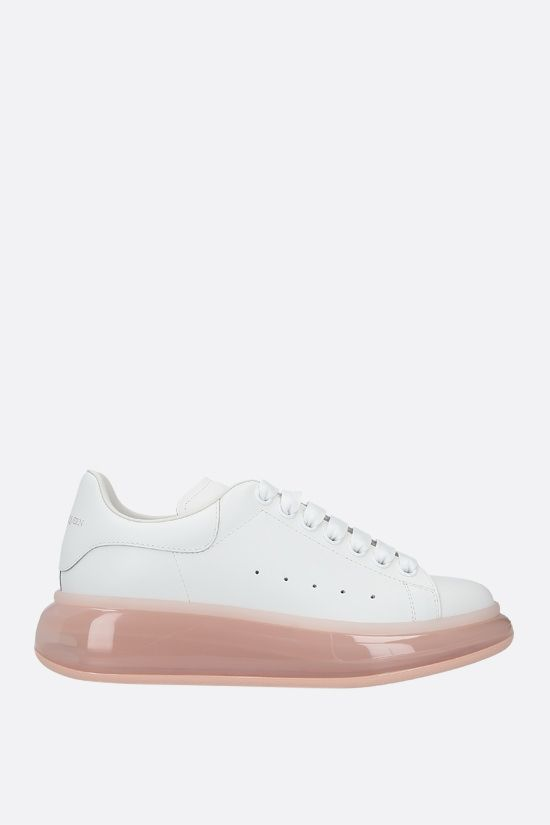 ALEXANDER McQUEEN: Oversize smooth leather sneakers_1