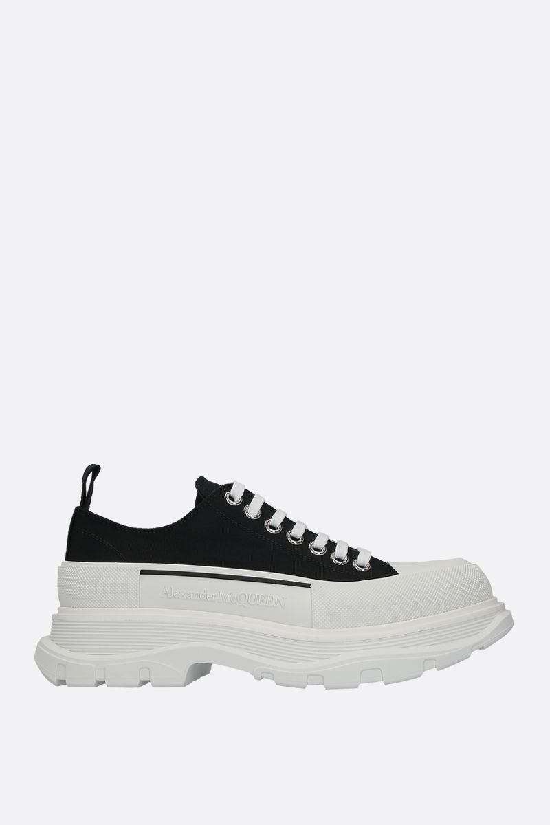 ALEXANDER McQUEEN: Tread Slick canvas sneakers Color Black_1