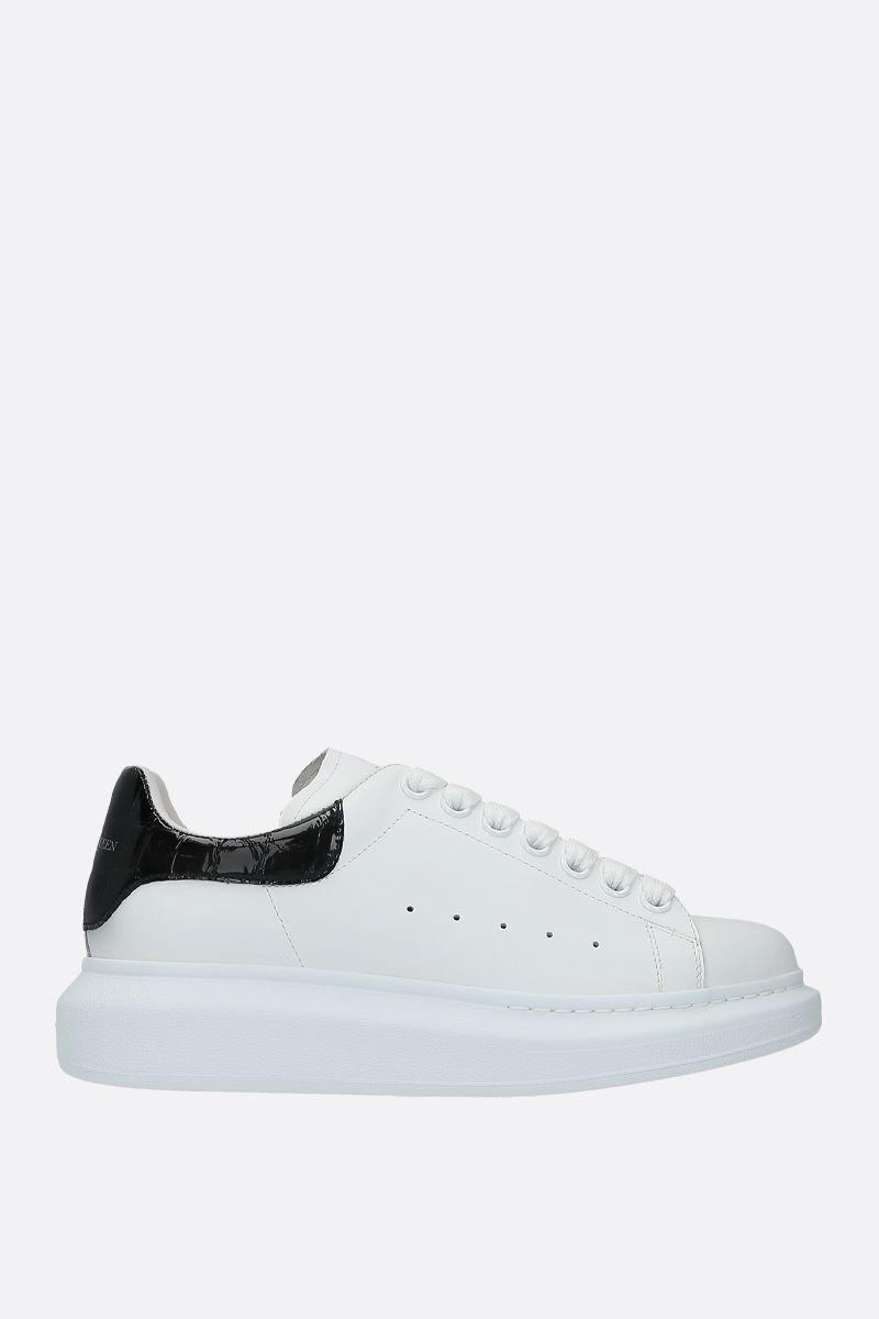 ALEXANDER McQUEEN: Oversize smooth leather sneakers Color Multicolor_1