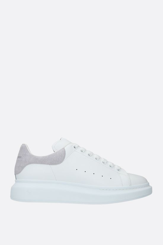 ALEXANDER McQUEEN: Oversize sneakers in Larry leather Color White_1