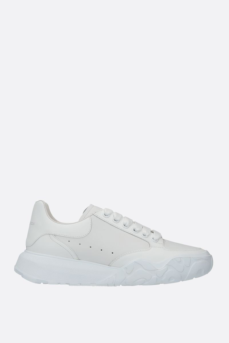ALEXANDER McQUEEN: Court Oversize smooth leather sneakers Color White_1