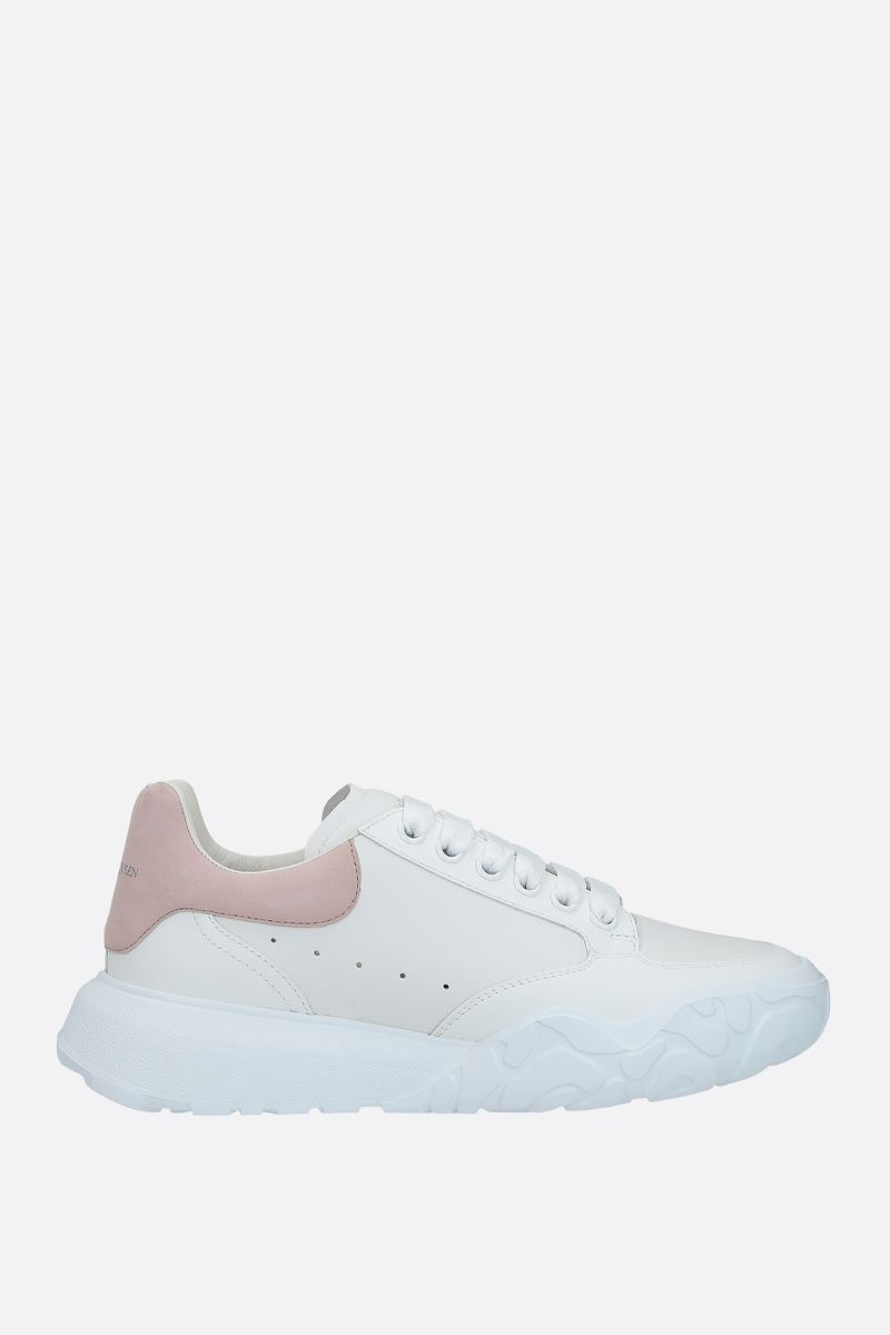 ALEXANDER McQUEEN: Court Oversize smooth leather sneakers Color Multicolor_1