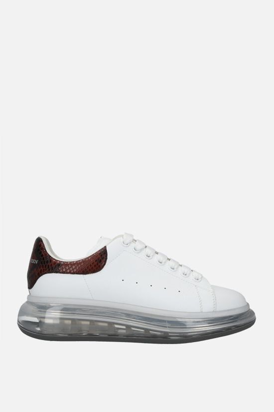 ALEXANDER McQUEEN: Oversize sneaker in Larry leather Color White_1