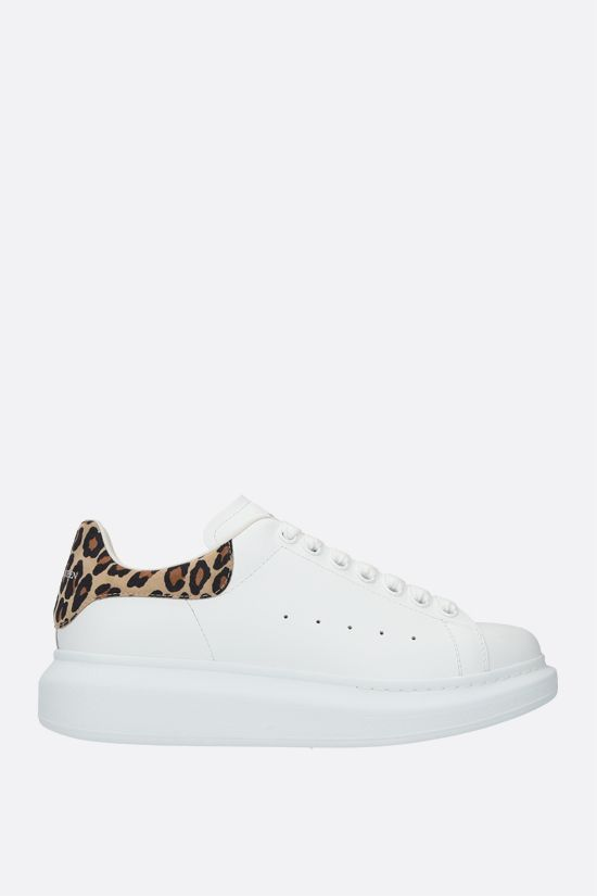 ALEXANDER McQUEEN: Oversize snaekers in Larry leather Color White_1