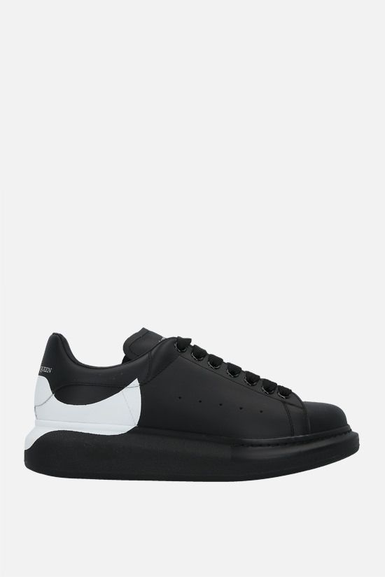 ALEXANDER McQUEEN: Oversize sneakers in Larry leather Color Black_1