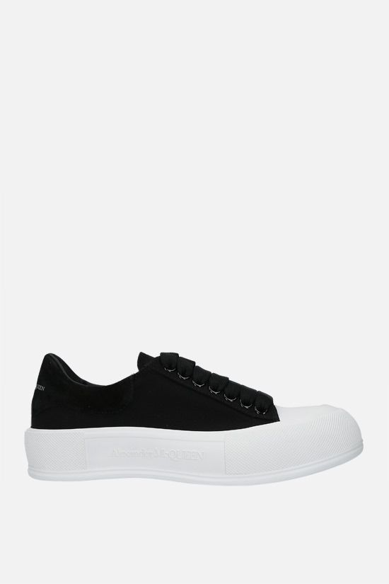 ALEXANDER McQUEEN: canvas and suede sneakers Color Black_1