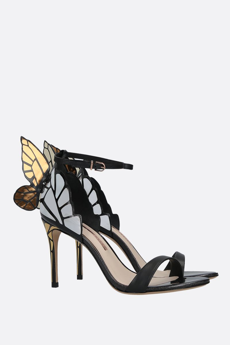 SOPHIA WEBSTER: Chiara smooth and mirrored leather sandals Color Black_2