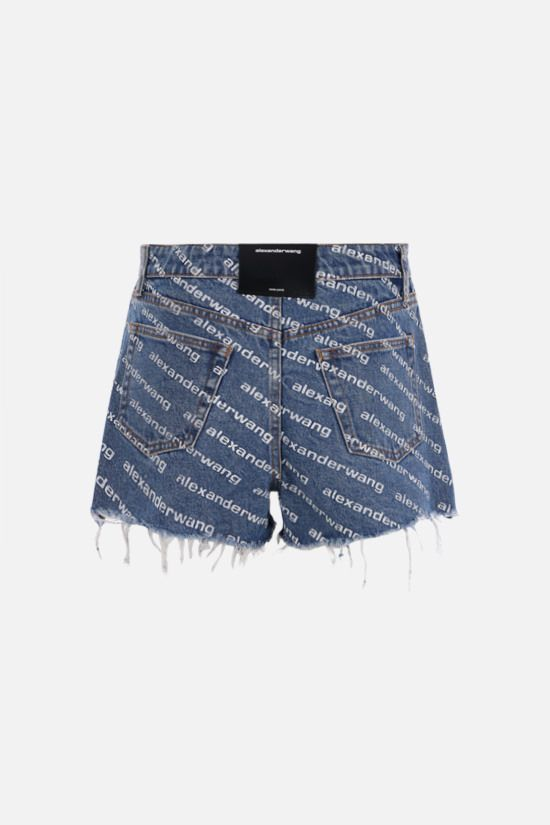 ALEXANDER WANG: Bite denim shorts Color Blue_2