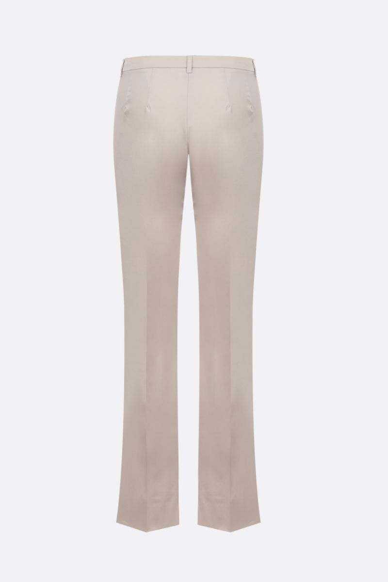 'S MAX MARA: Amelia stretch cotton cropped pants Color Neutral_2
