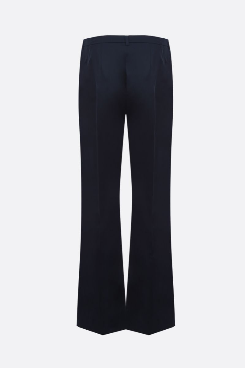'S MAX MARA: Amelia stretch cotton cropped pants Color Blue_2