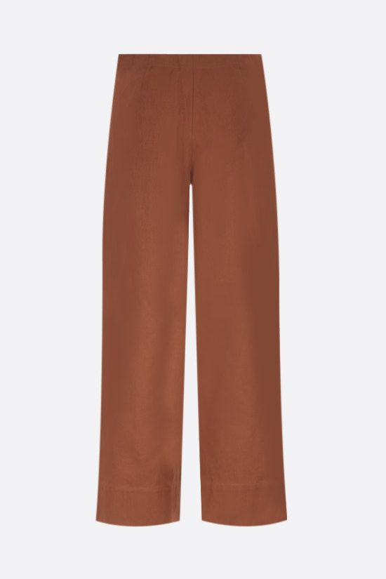 'S MAX MARA: Lonza cotton cropped pants Color Brown_2