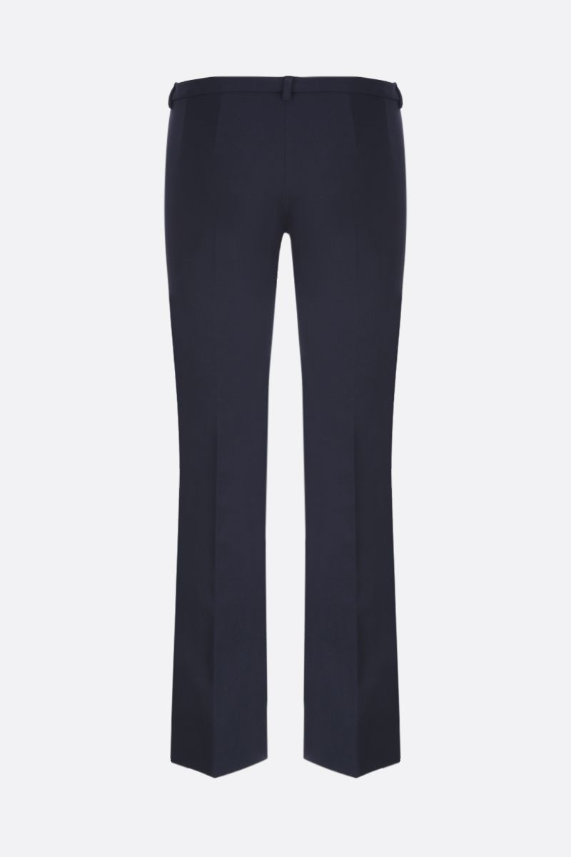 'S MAX MARA: Umanita technical cotton cropped pants Color Blue_2