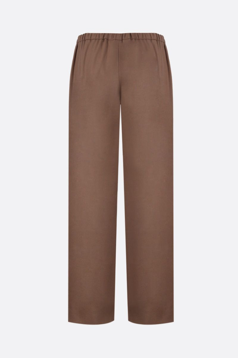 'S MAX MARA: Floria stretch flannel cropped pants Color Brown_2