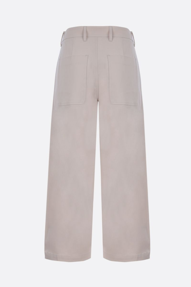 'S MAX MARA: Pasta crop cotton pants_2