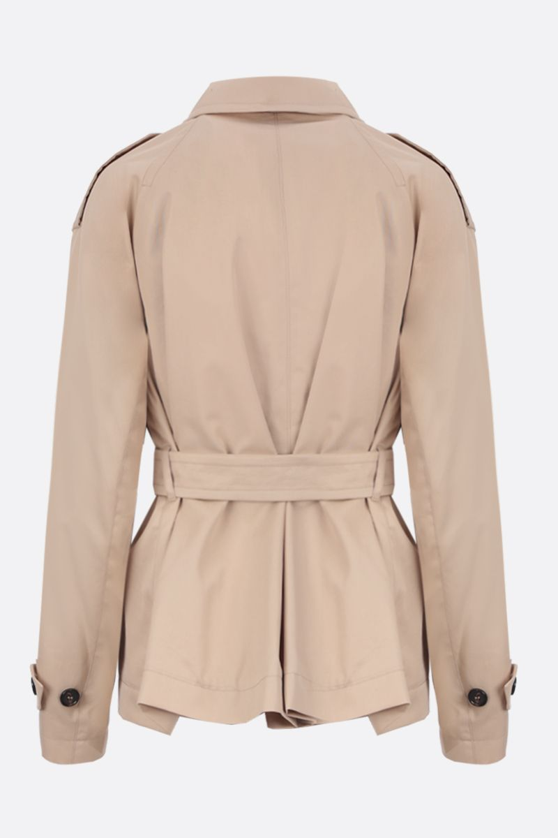 'S MAX MARA: Lisetta cotton double-breasted trench coat Color Neutral_2