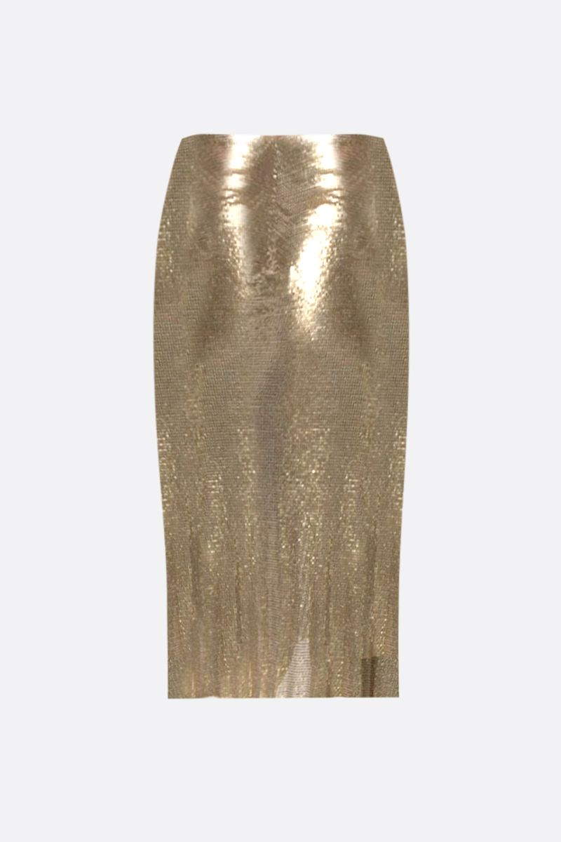 PACO RABANNE: metal mesh draped skirt Color Gold_2