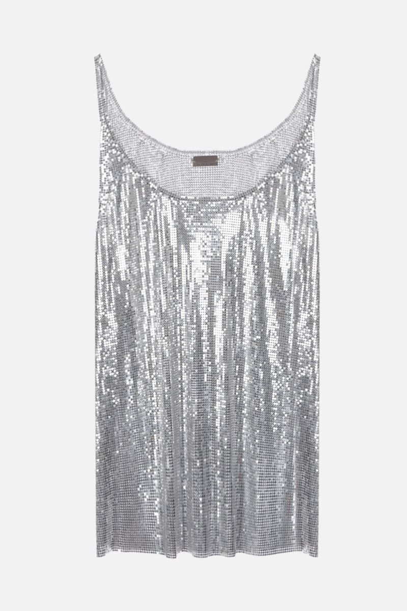 PACO RABANNE: metal mesh tank top Color Silver_1