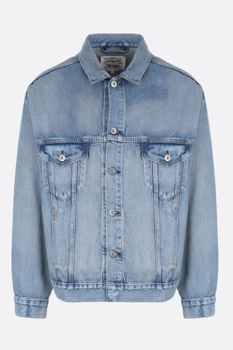 LEVI'S MADE & CRAFTED: giubbotto oversize in denim Colore Blu_1