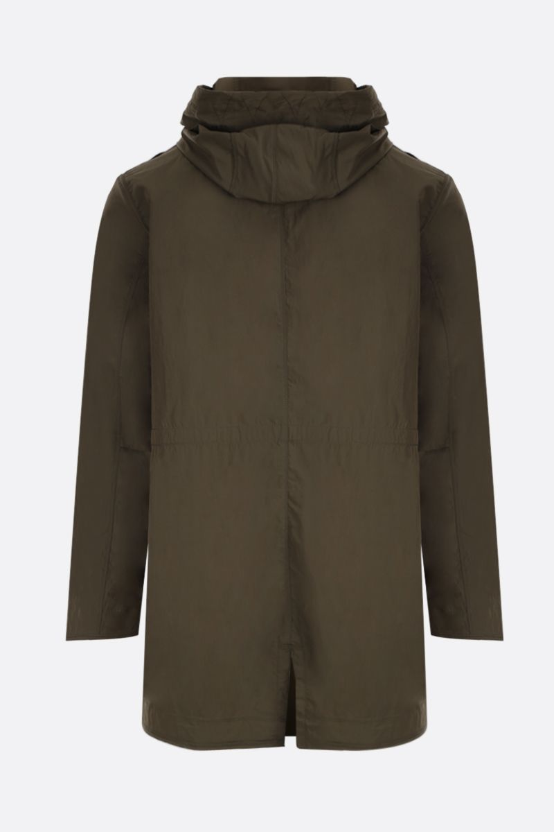 PARAJUMPERS: Tank Spring parka coat in technical poplin Color Green_2