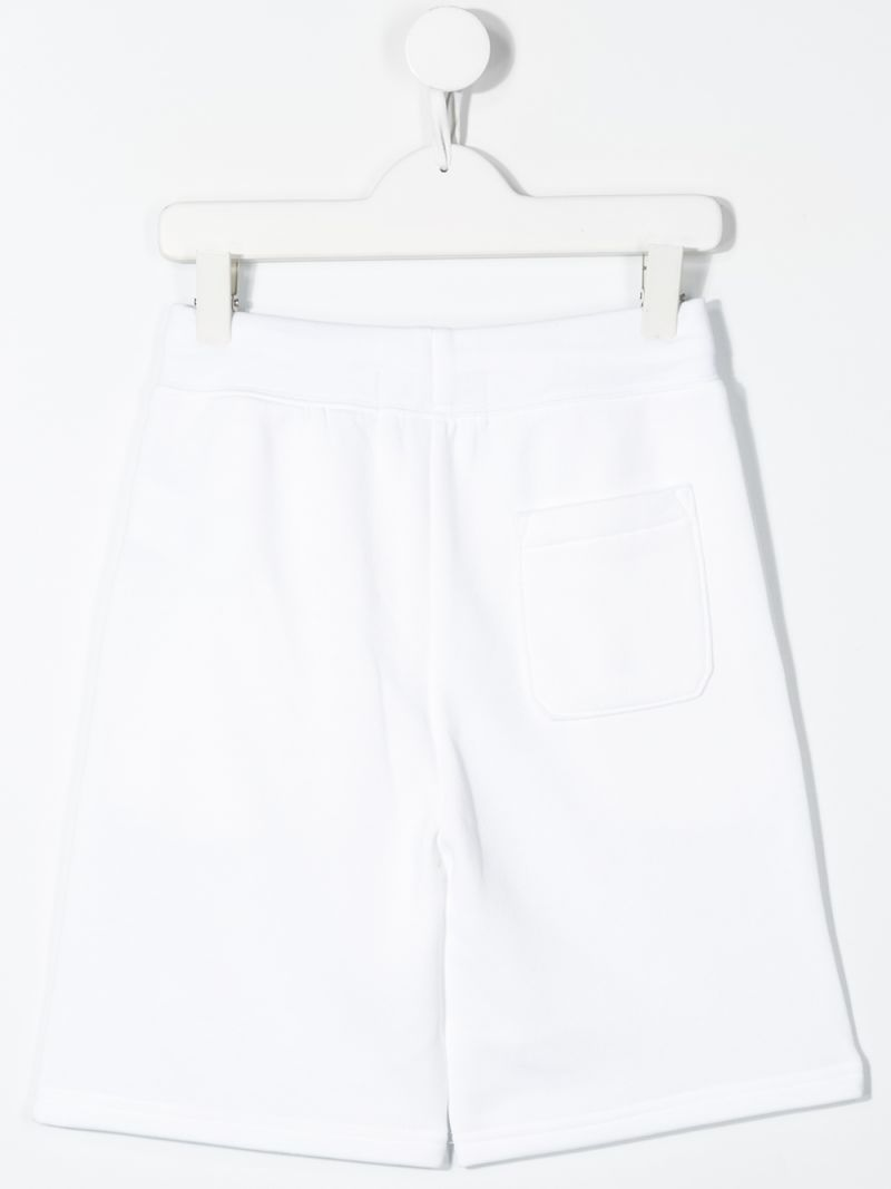 RALPH LAUREN KIDS: Polo Sport jersey shorts Color White_2