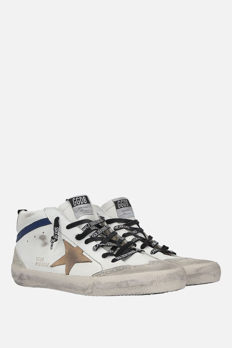GOLDEN GOOSE DELUXE BRAND: Mid-Star sneakers in smooth leather and suede Color Multicolor_2