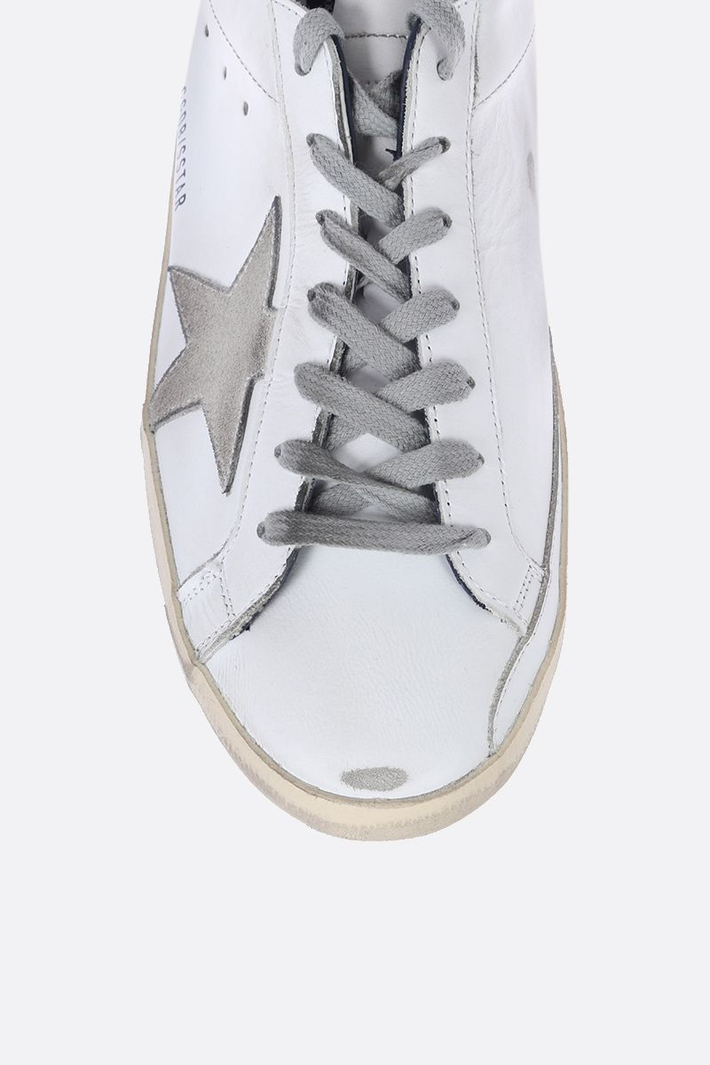 GOLDEN GOOSE DELUXE BRAND: Superstar sneakers in smooth leather and suede Color White_4
