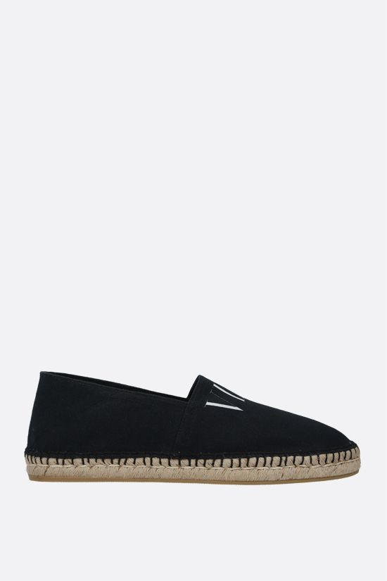 VALENTINO GARAVANI: VLTN canvas espadrilles Color Black_1