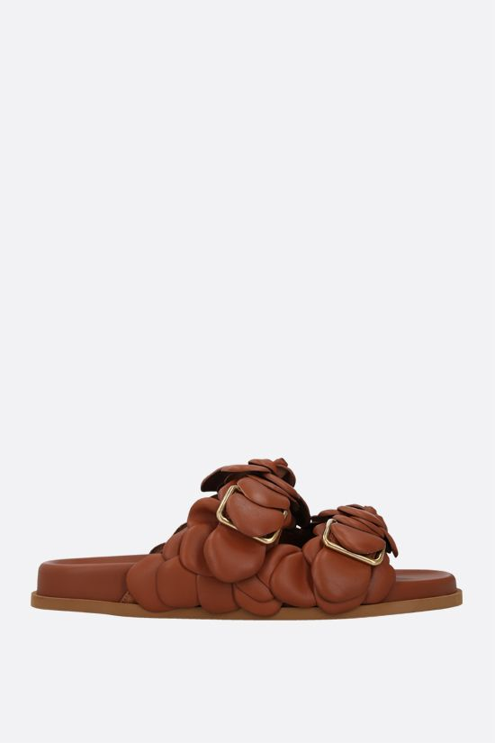 VALENTINO GARAVANI: Atelier Shoes 03 Rose Edition smooth leather sandals Color Brown_1