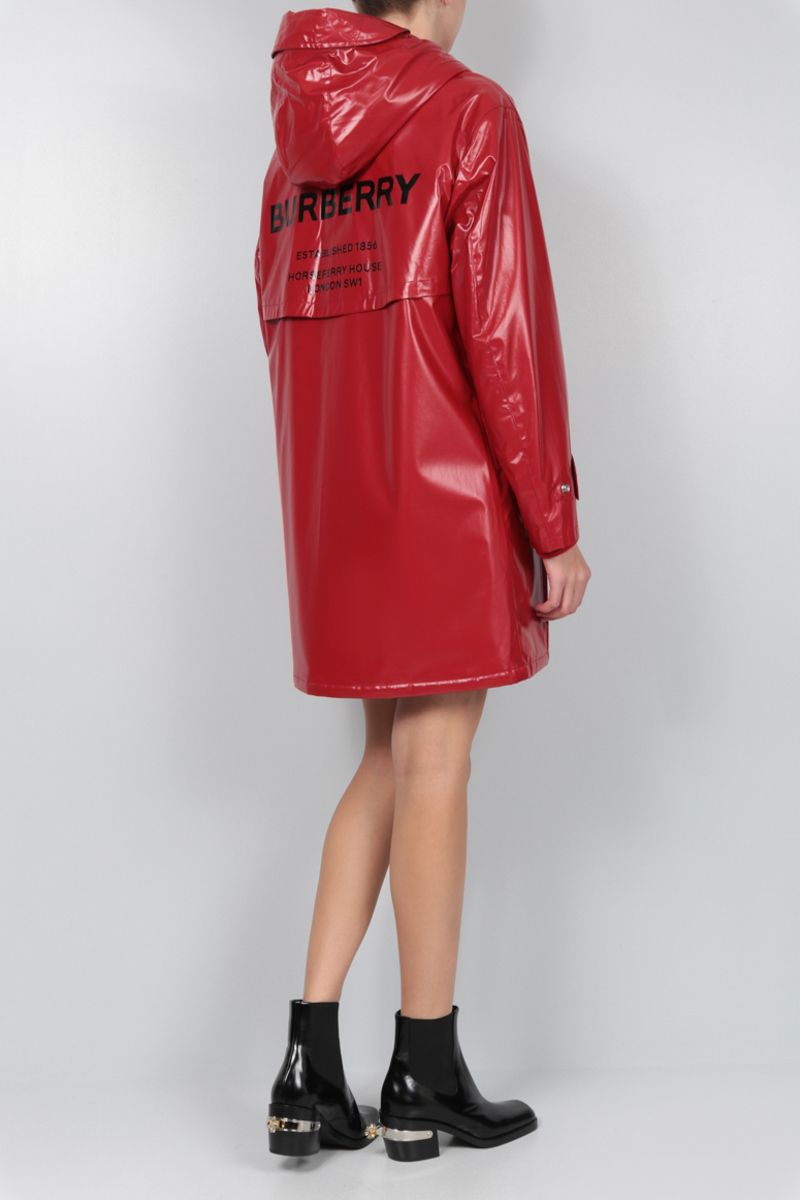 BURBERRY: Cramond padded parka in coated jersey Color Red_2