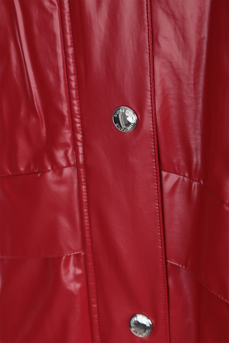 BURBERRY: Cramond padded parka in coated jersey Color Red_5