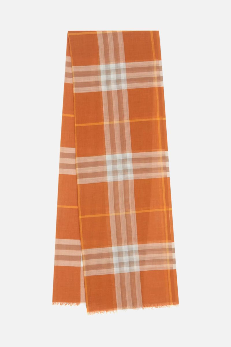 BURBERRY: Giant check wool silk blend scarf_2