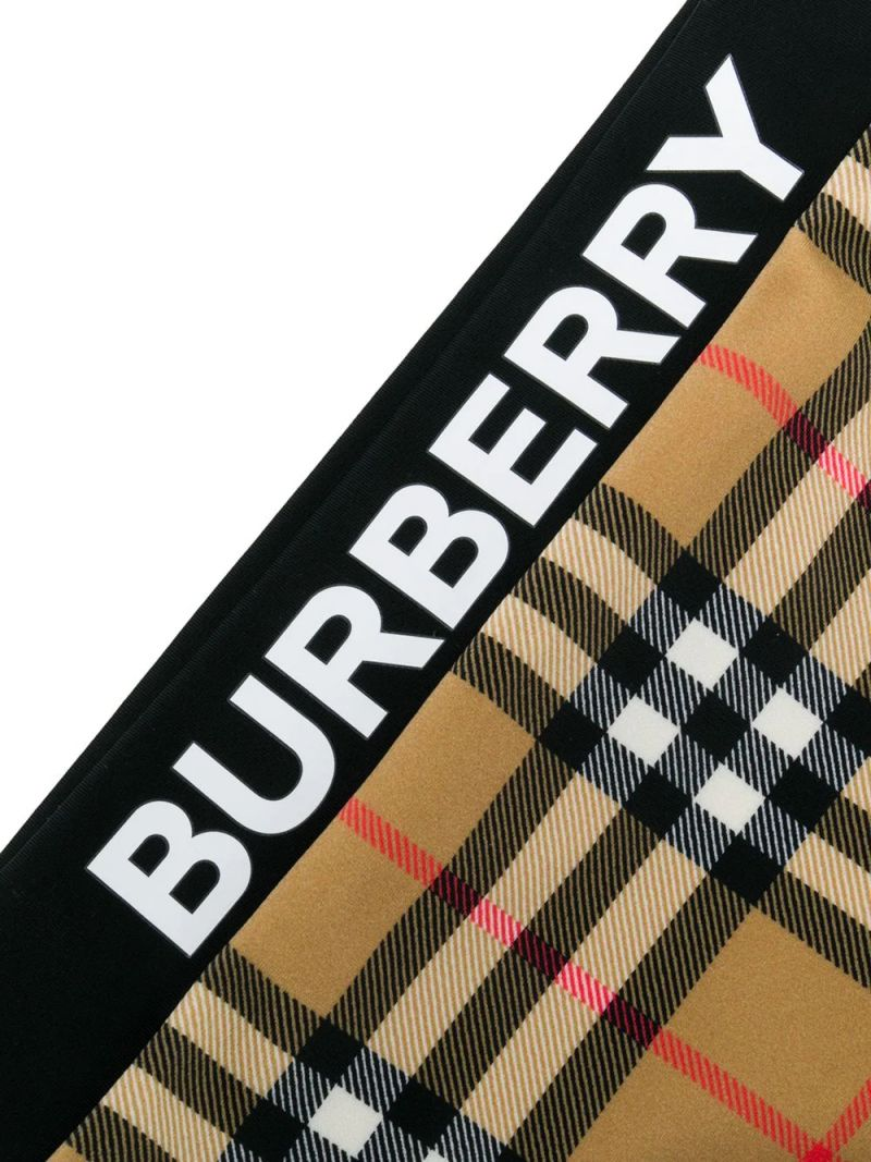 BURBERRY CHILDREN: Vintage check bikini with logoed details Color Yellow_2