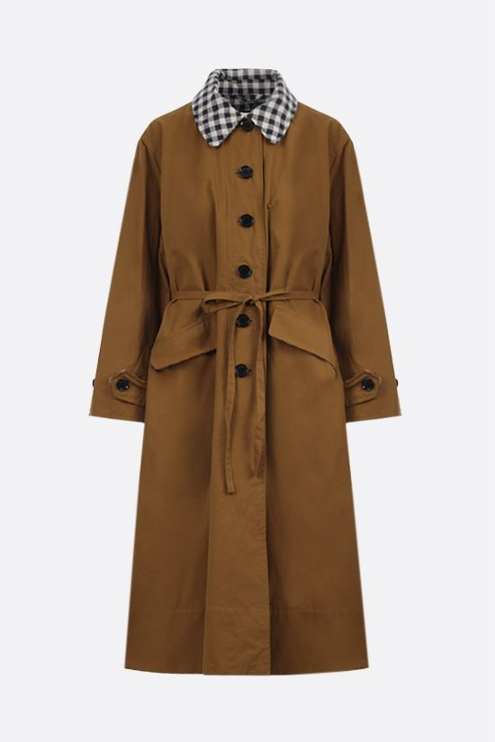 BARBOUR BY ALEXA CHUNG: Glenda single-breasted technical cotton overcoat Color Red_1