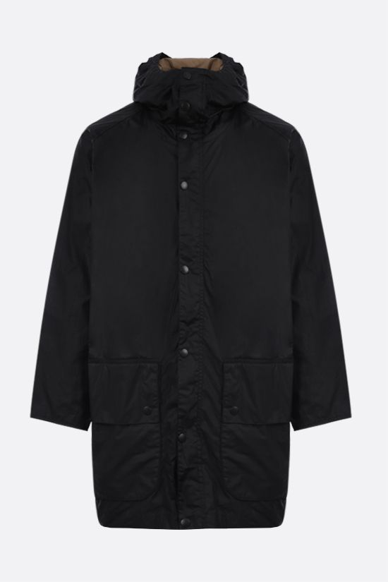 BARBOUR MADE FOR JAPAN: giubbotto Hiking in canvas resinato Colore Nero_1