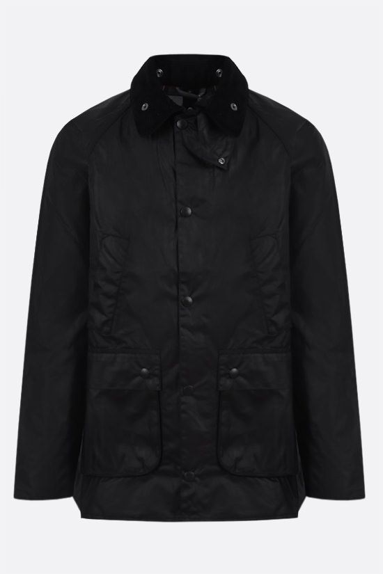BARBOUR MADE FOR JAPAN: Bedale waxed canvas jacket Color Black_1