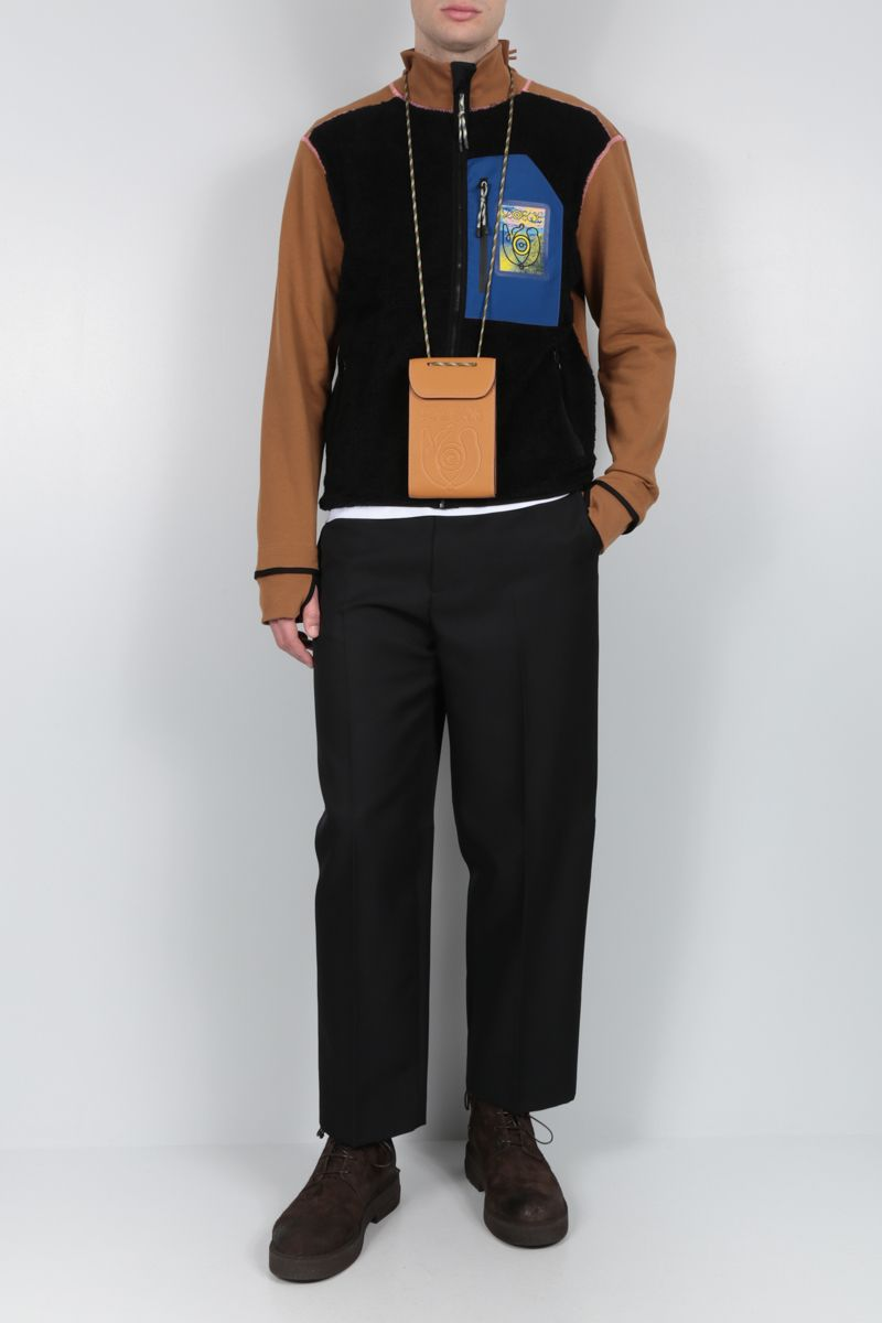 Eye/LOEWE/Nature: smooth leather neck pocket Color Yellow_2