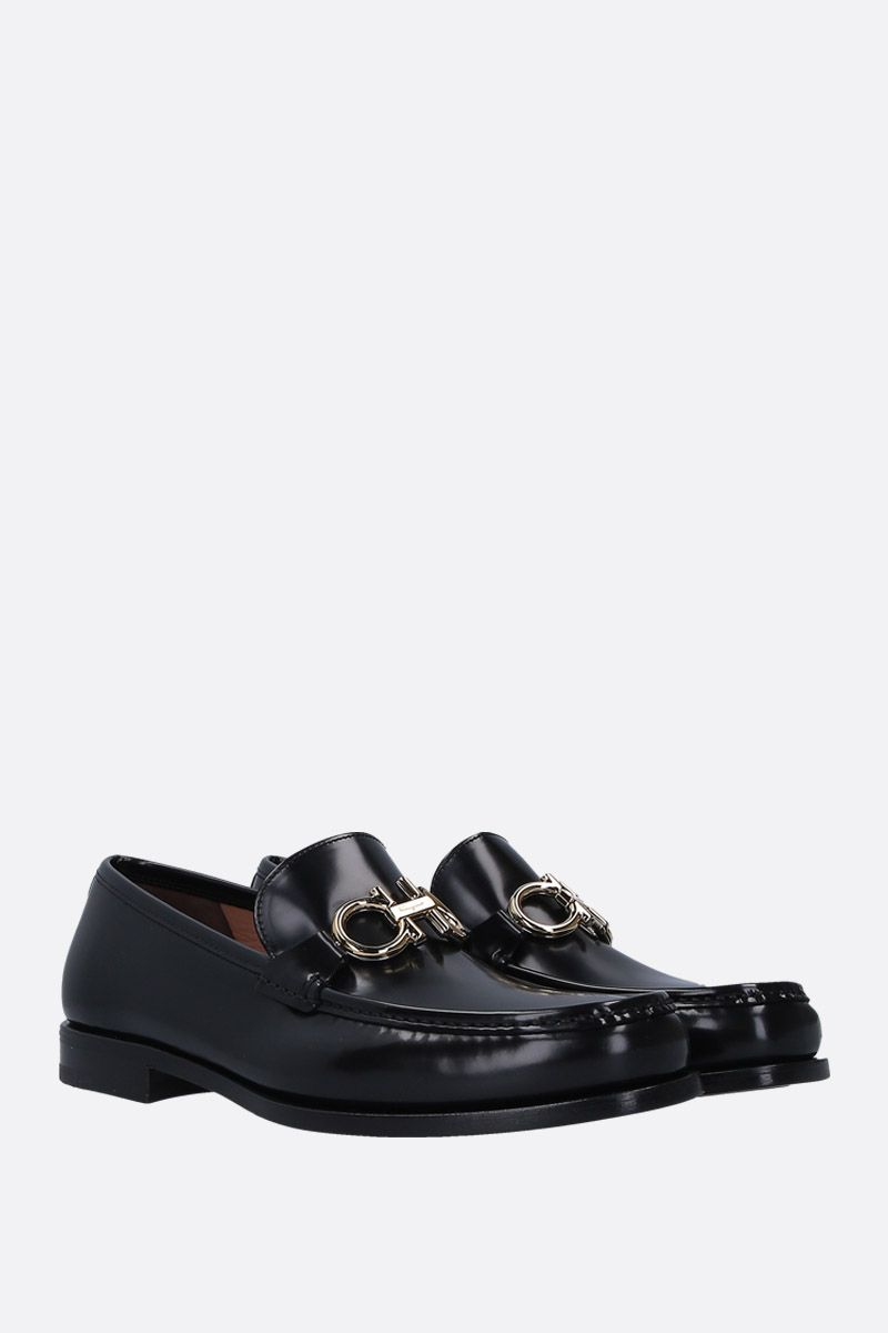 SALVATORE FERRAGAMO: Rolo loafers in shiny leather Color Black_2