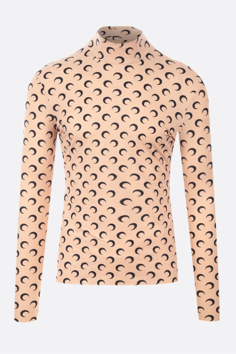 MARINE SERRE: Second Skin Moon recycled technical fabric top Color Neutral_1