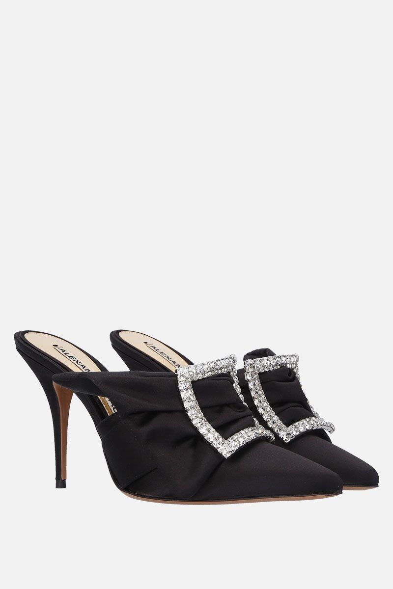 ALEXANDRE VAUTHIER: Lola satin mules Color Black_3