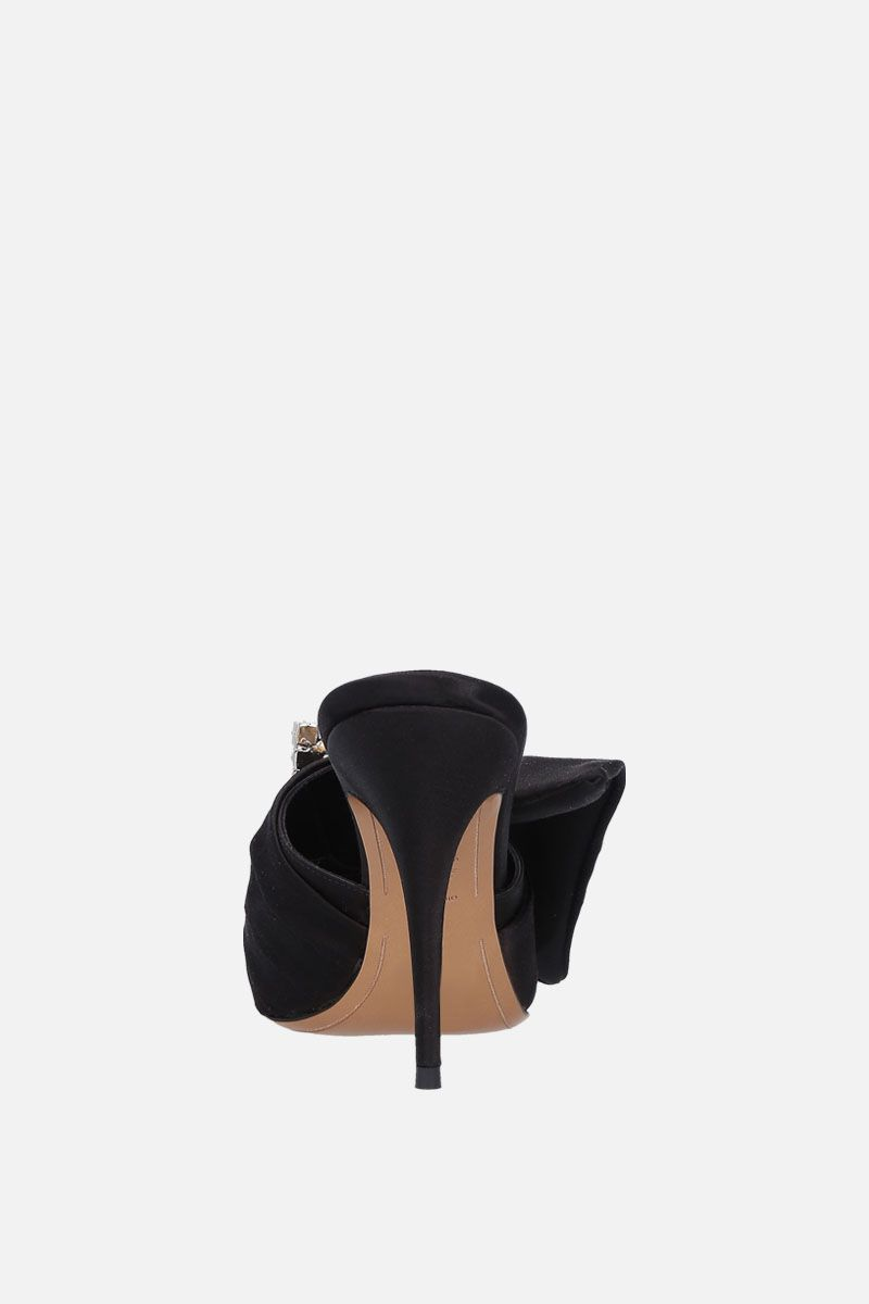 ALEXANDRE VAUTHIER: Lola satin mules Color Black_4