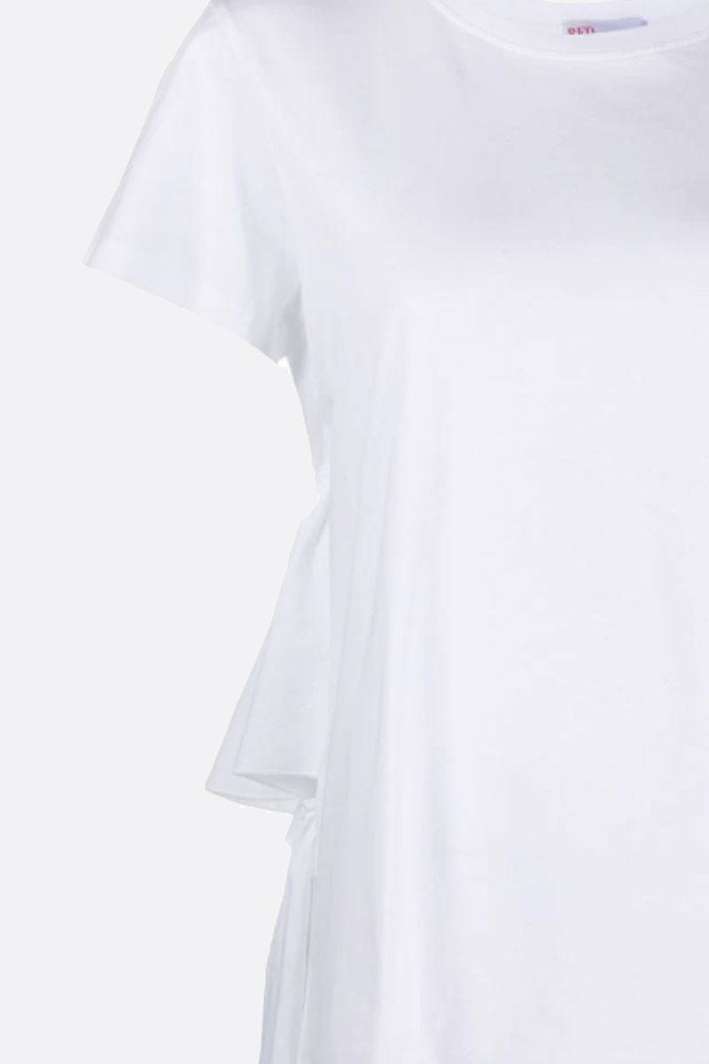 RED VALENTINO: ruches-detailed cotton t-shirt Color White_2